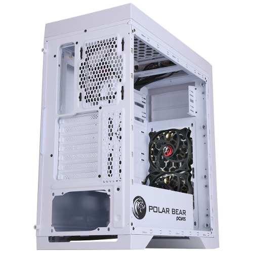 Gabinete Midtower Polar Bear Com Led Rgb Lat. Acrílico Pcyes