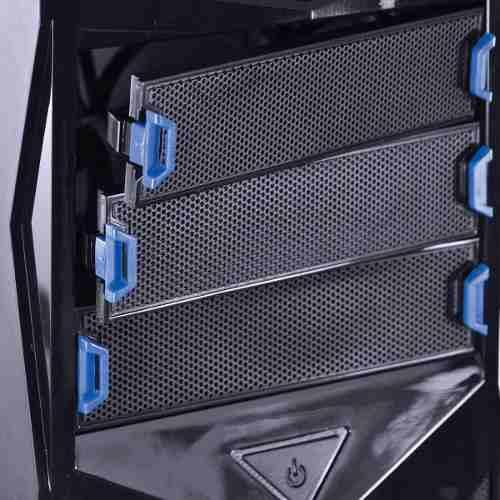 Gabinete Midtower Vx Gaming Storm V2 Preto Com Azul - Vinik