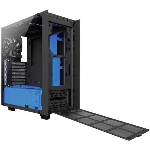 Gabinete S340 Midtower Elite Preto/azul Vidro Temperado Nzxt