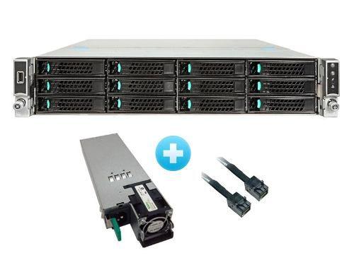 Gabinete Servidor Intel 2u P/ Placa S2600wt + Fonte 1100w Ac