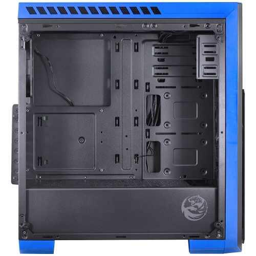 Gabinete Tank Azul Led Azul Vidro Temperdo Pcyes + Nfe