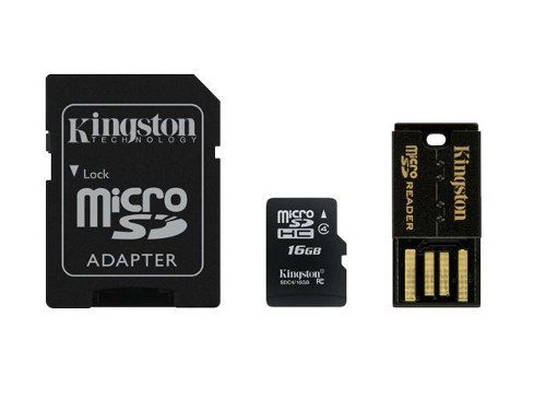 Cartão Kit 3 Em 1 Multilaser 16gb Micro Sd, Sd Pendrive Usb