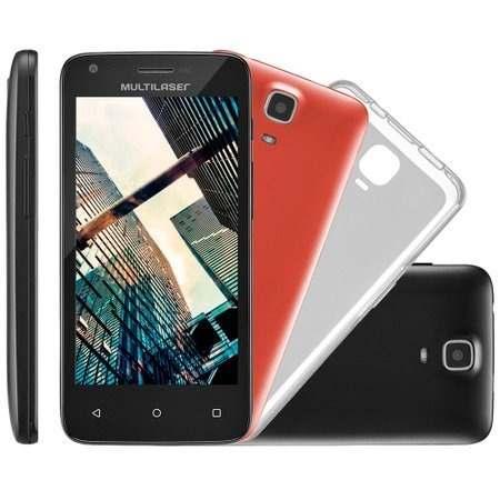 Celular Smartphone Multilaser Ms45s 4,5 Preto Dual Chip 8gb
