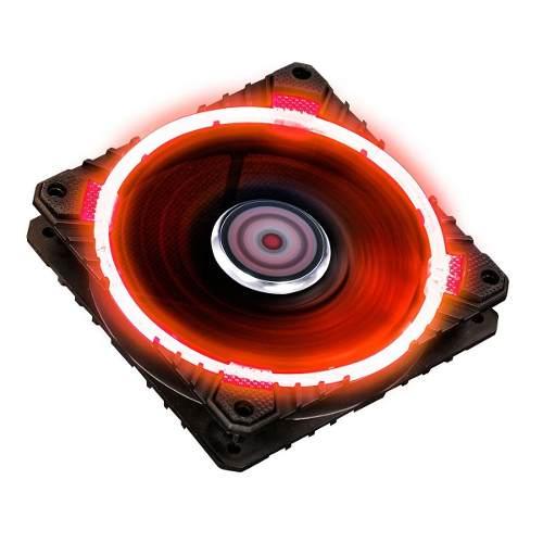 Cooler Fan Pcyes 120mm Calafrio Rings Com Led Vermelho