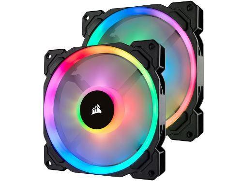 Cooler P/ Gabinete Corsair Pwm Ll140 Pro Rgb Led Pack 2 Fans