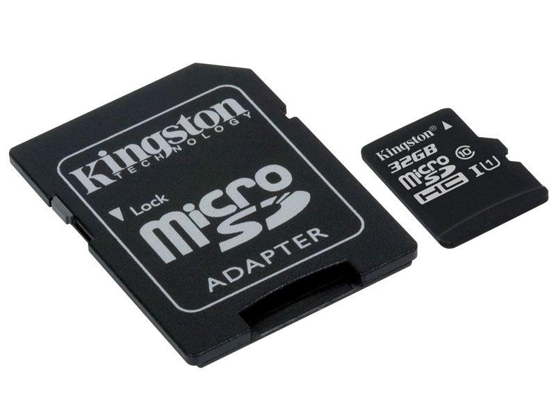 CARTÃO DE MEMÓRIA CLASSE 10 KINGSTON SDCS/32GB MICRO SDHC 32GB 80R/10W UHS-I U1 CANVAS SELECT