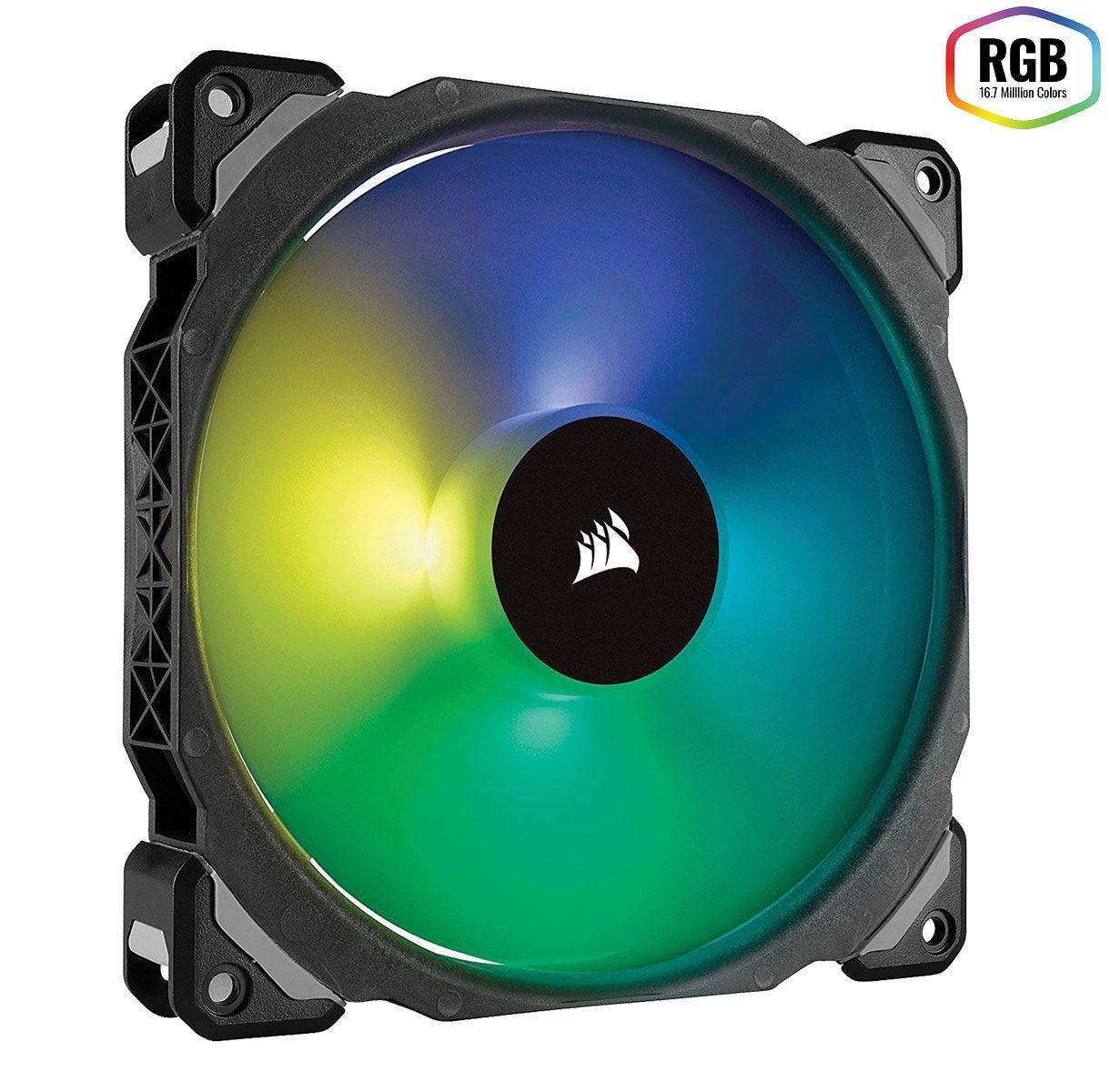 Cooler Fan P/ Gabinete Corsair Pwm Ml140 Pro Rgb Led Premium