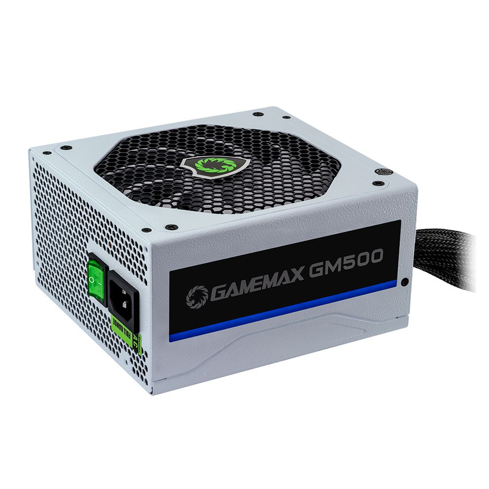 Fonte ATX Gamemax 500W Real 80 Plus GM500 PFC Bivolt Automatico Branca
