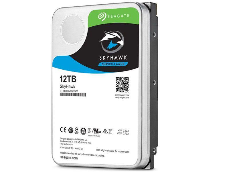 "HDD 3,5"" SURVEILLANCE SEGURANCA VIGILANCIA SEAGATE SKYHAWK 12 TERAS 256MB 24X7 6GB/S SATA"