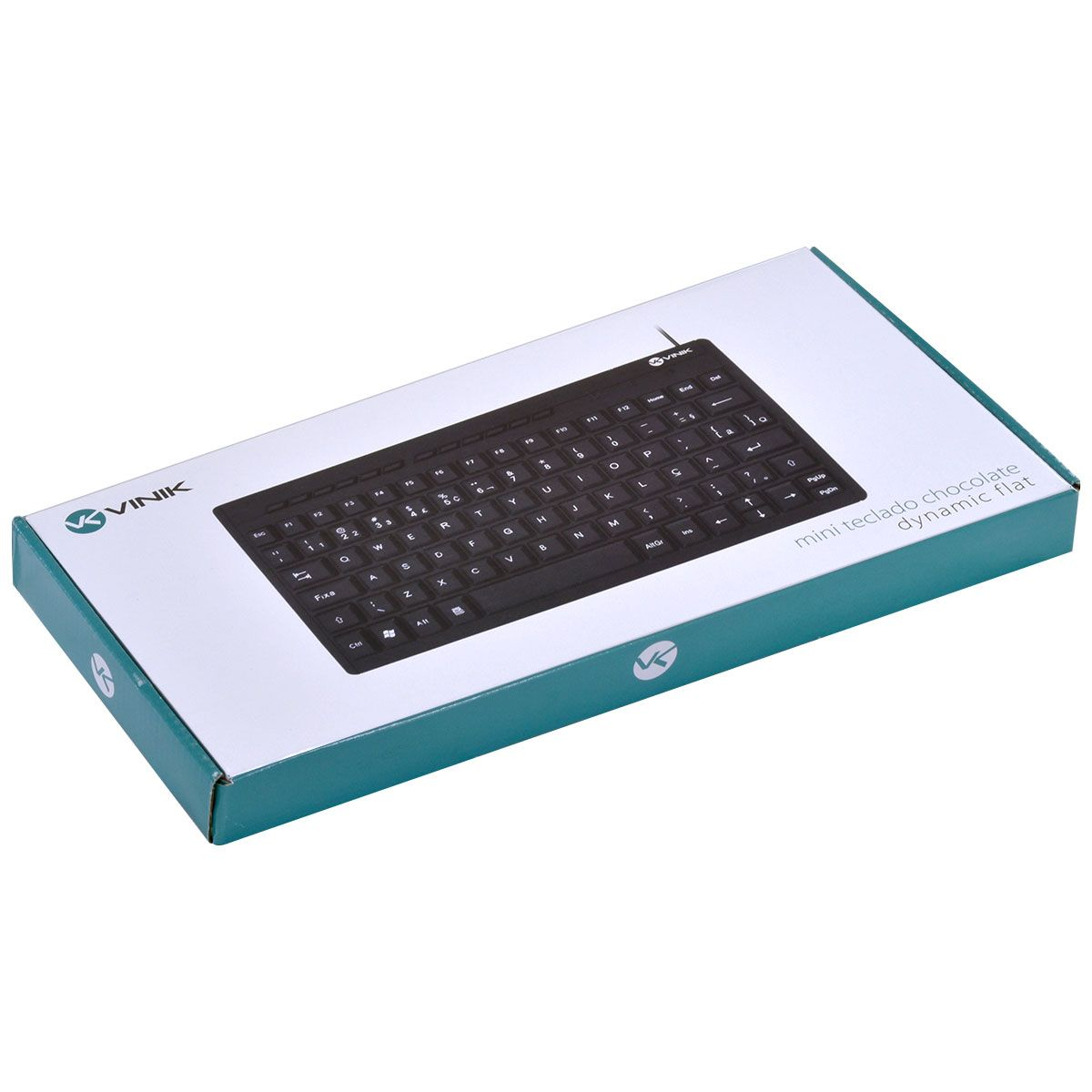 MINI TECLADO USB CHOCOLATE MULTIMIDIA DYNAMIC FLAT ABNT2 1.8M PRETO - DT110