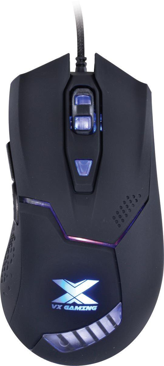 MOUSE GAMER ÓPTICO VX GAMING VIPER 3200 DPI AJUSTÁVEL E 06 BOTÕES USB - PRETO