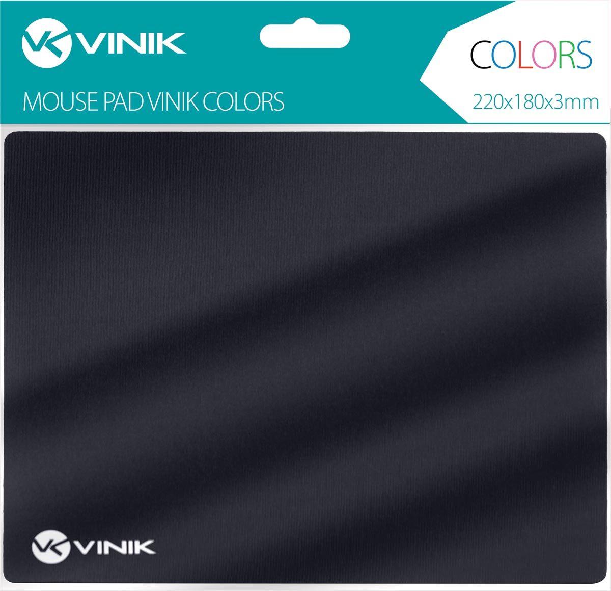 MOUSE PAD VINIK COLORS PRETO - 220X180X3MM