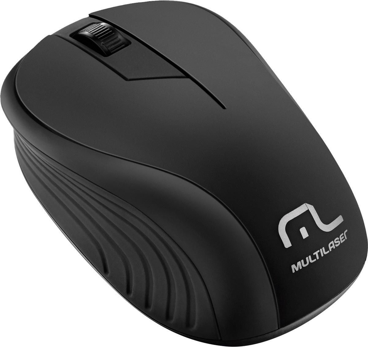 MOUSE SEM FIO 2.4GHZ PRETO USB PLUG AND PLAY 1200DPI MO212