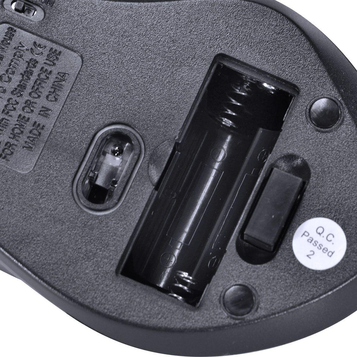 MOUSE SEM FIO HÍBRIDO 2.4 GHZ + BLUETOOTH 4.0 1200 DPI DYNAMIC ERGO PRETO USB - DM120