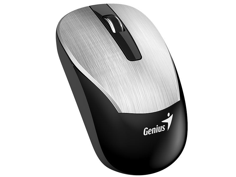 MOUSE WIRELESS GENIUS ECO-8015 RECARREGAVEL PRATA 2,4GHZ 1600DPI