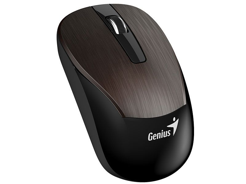 MOUSE WIRELESS GENIUS (45328-9) ECO-8015 CHOCOLATE RECARREGAVEL 2,4GHZ 1600DP