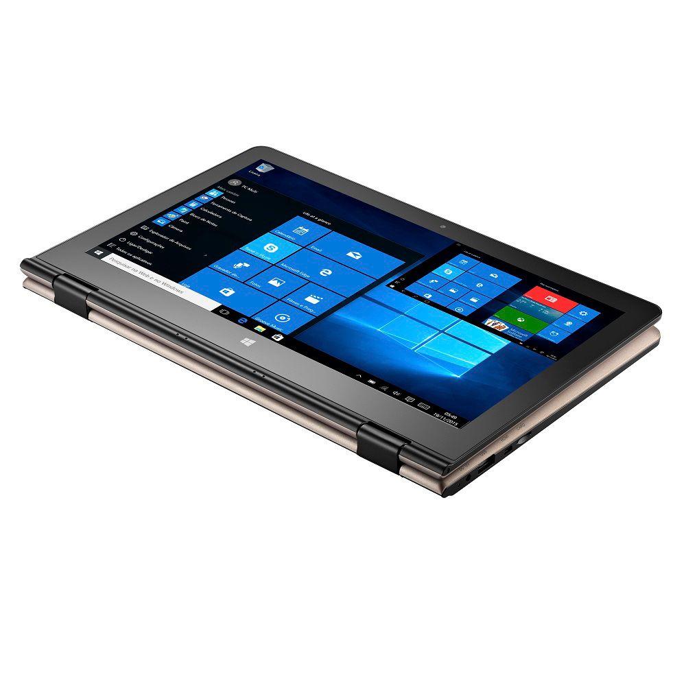 Notebook Multilaser M11W 2Gb Ram Win10 32Gb Quad 11,6 Polegadas NB259 Dourado