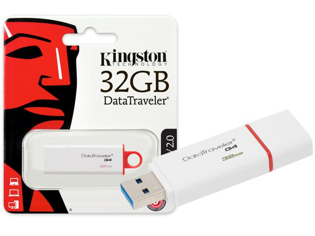 PEN DRIVE USB 3.0 KINGSTON DATATRAVELER 32GB GENERATION 4 VERMELHO