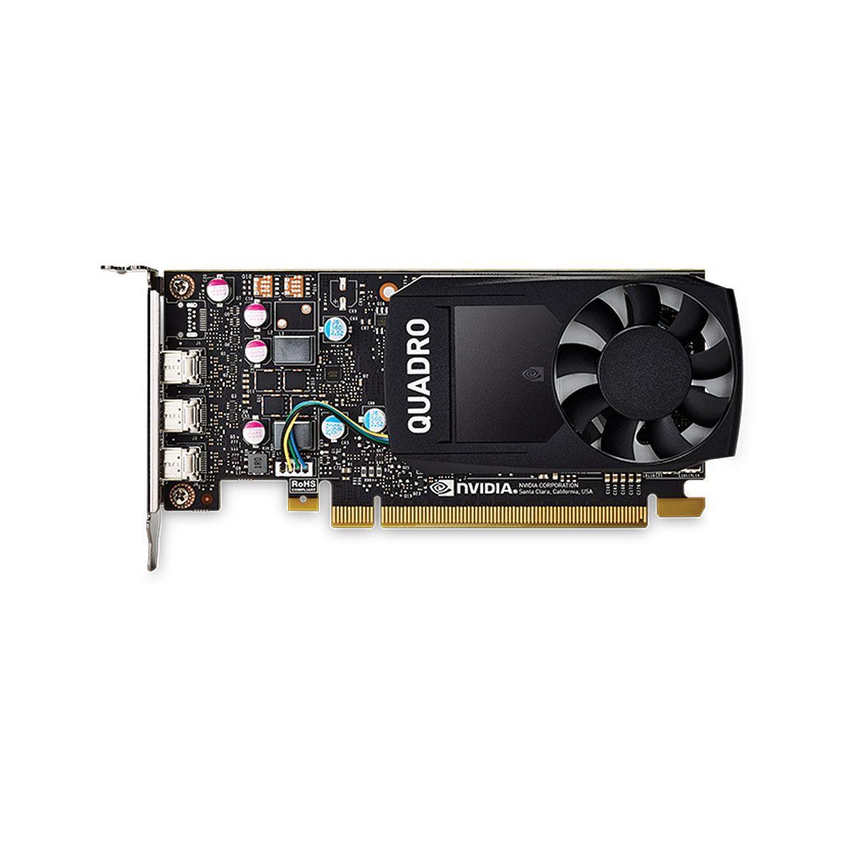 PLACA NVIDIA QUADRO P400 2GB GDDR5 64 BITS 3 MINI DISPLAY PORT VCQP400-PORPB - SUPORTA ATÉ 3 MONITORES/TV