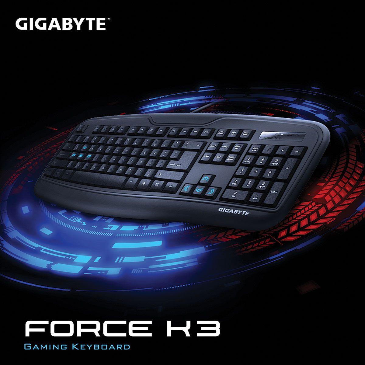 TECLADO GAMING GK-FORCE K3/BR ABNT2 USB PRETO - GIGABYTE