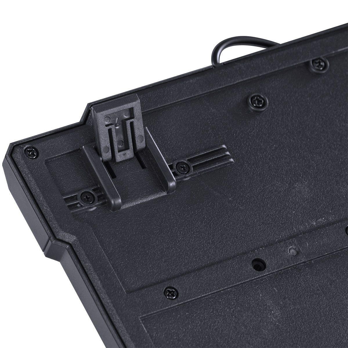 TECLADO USB GAMER VX GAMING DRAGON V2 ABNT2 1.8M PRETO COM VERMELHO - GT100
