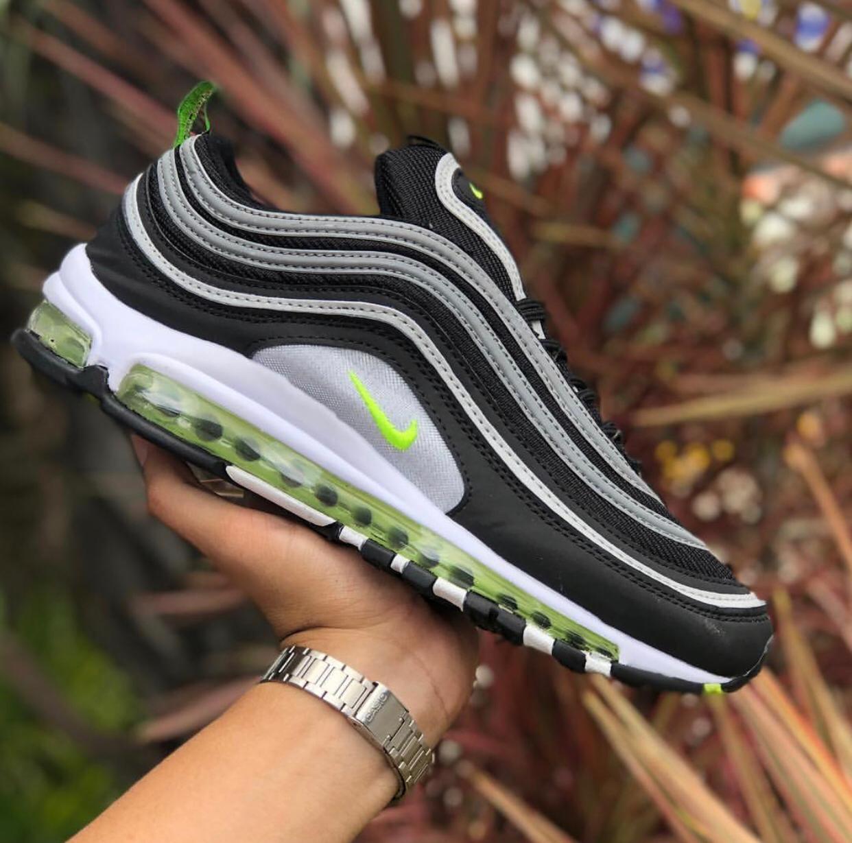 air max 97 verde e preto