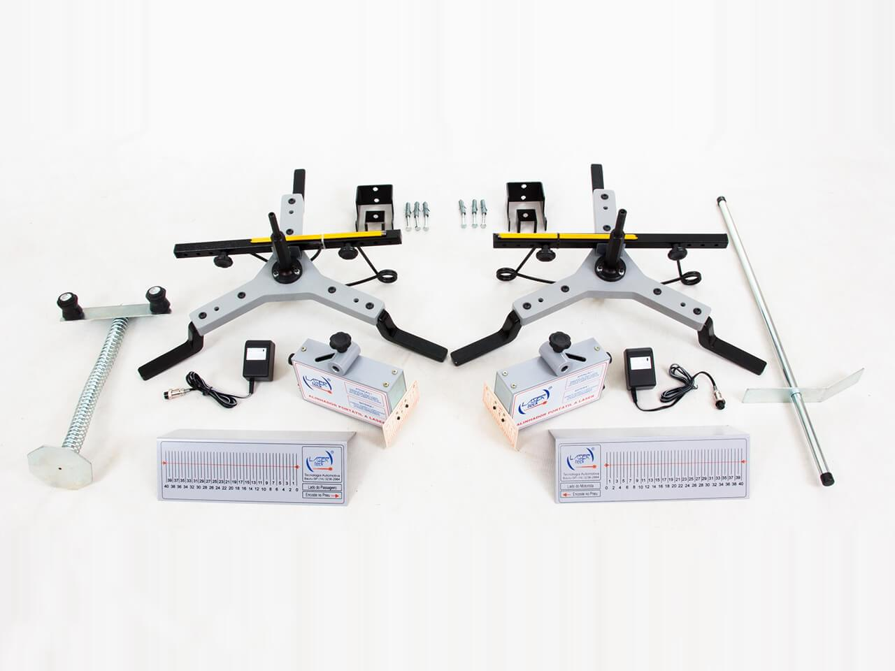 Conjunto Projetores de Painel a Laser com carregadores de Bateria + Par de escalas traseira + Par de Garras Flash (FRETE INCLUSO)