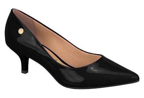 Sapato Scarpin Vizzano Salto Baixo 1122.628 Feminino Preto