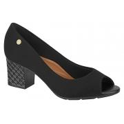 Sapato Moleca Peep Toe Scarpin Salto 5708.100 Feminino