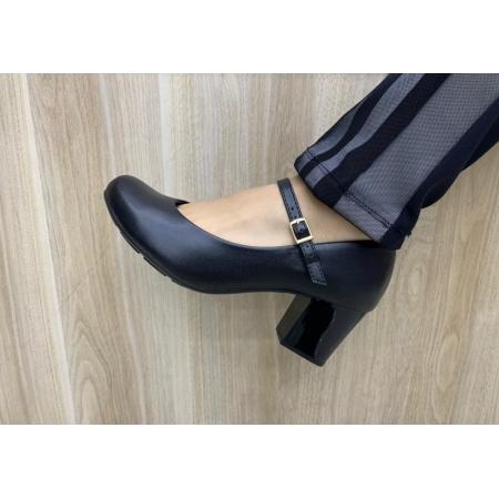 Sapato Moleca Scarpin Salto Grosso Médio 5708.203 Feminino