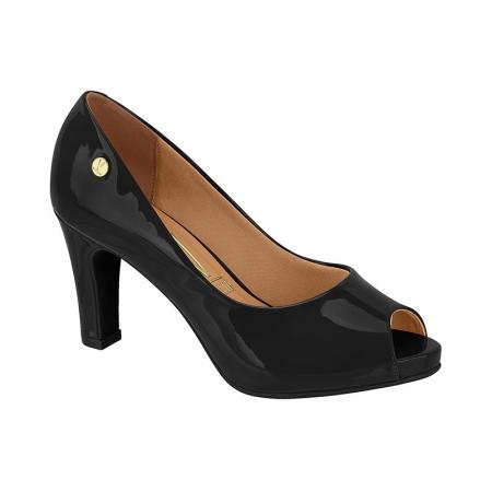 Sapato Vizzano 1840.300 Peep Toe scarpin bico aberto Salto Feminino