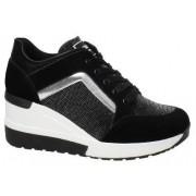 Tênis Sneaker Quiz Plataforma Anabela Brilho 66185204 Feminino