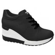 Tênis Sneaker Quiz Plataforma Anabela Cadarço 66185201 Feminino