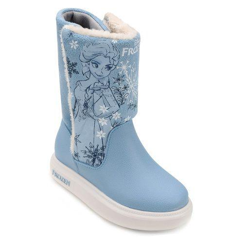 Bota Infantil Frozen Grendene Com Pelo 21565 Feminina Azul