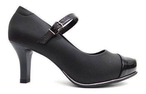 Sapato Comfortflex Boneca Scarpin 1885402 Feminino Preto