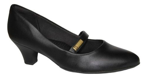 Sapato Piccadilly Boneca 703016 De Uniforme Feminino Preto