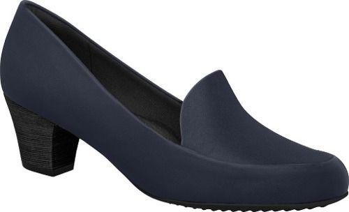 Sapato Piccadilly Salto Baixo Uniforme Feminino Azul Marinho