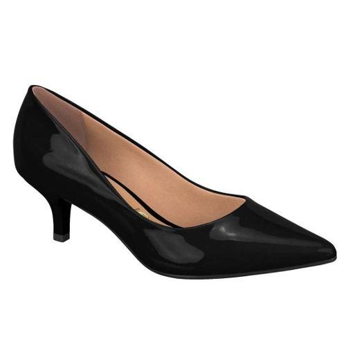 Sapato Scarpin Vizzano Salto Baixo 1122.600 Feminino Preto