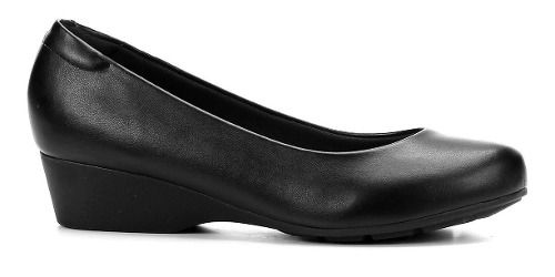 Sapato Modare Anabela 7014. De Uniforme Feminino Preto