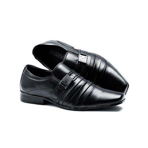 Sapato Bertelli Social 70019 Masculino Preto