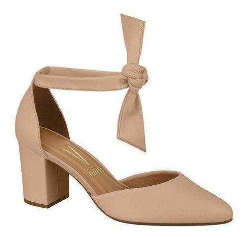 Sapato Mule Vizzano Salto Grosso De Laço 1290.519 Feminino