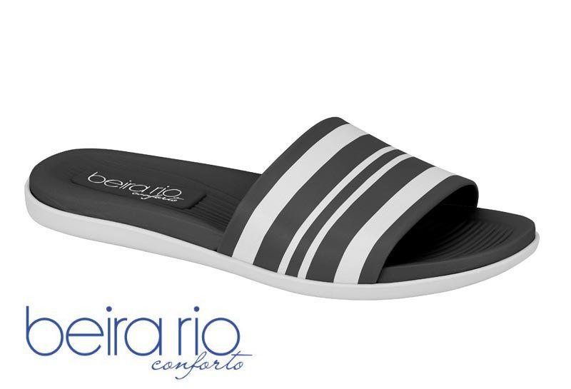 Chinelo Beira Rio Slide 8360.222 Feminino Preto Rosa