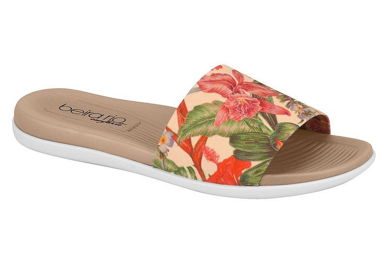 Chinelo Beira Rio Slide Original Floral 8360.203 Feminino