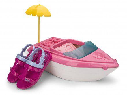 Sandália Barbie Iate Grendene 22002 Infantil Rosa