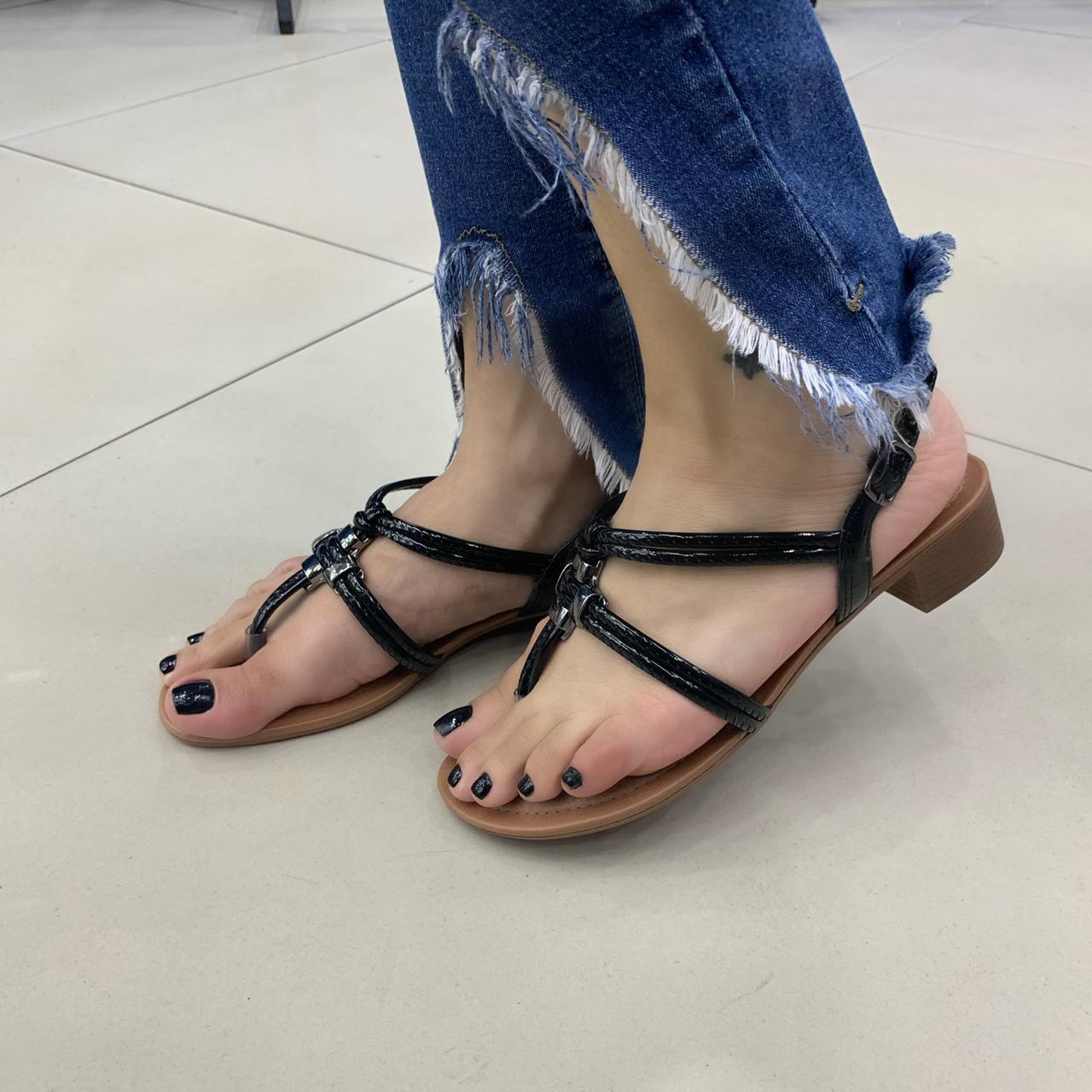 Sandália Dakota Com Tiras Salto Baixo Z5681 Feminina