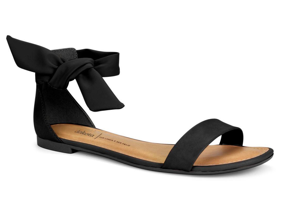 Sandália Dakota Salto Baixo Laço de Amarrar Z4991 Feminina