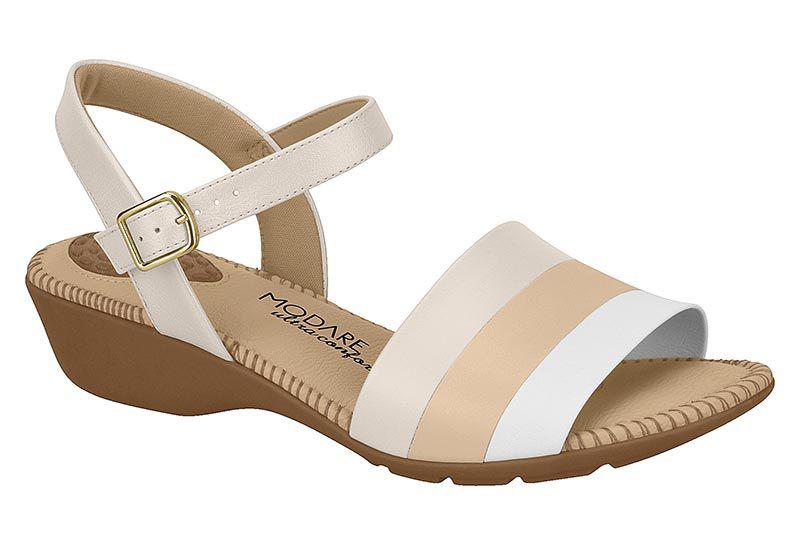Sandália Modare Salto Baixo Confortável 7017.459 Feminina