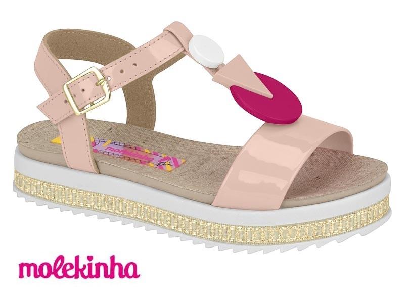 Sandália Molekinha Flatform Conforto 2305.825 Infantil Menina
