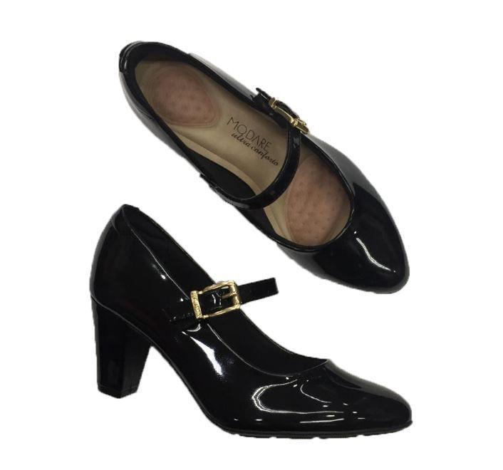 Sapato Modare Boneca Salto Grosso Fivela Uniforme 7305.104 Feminino