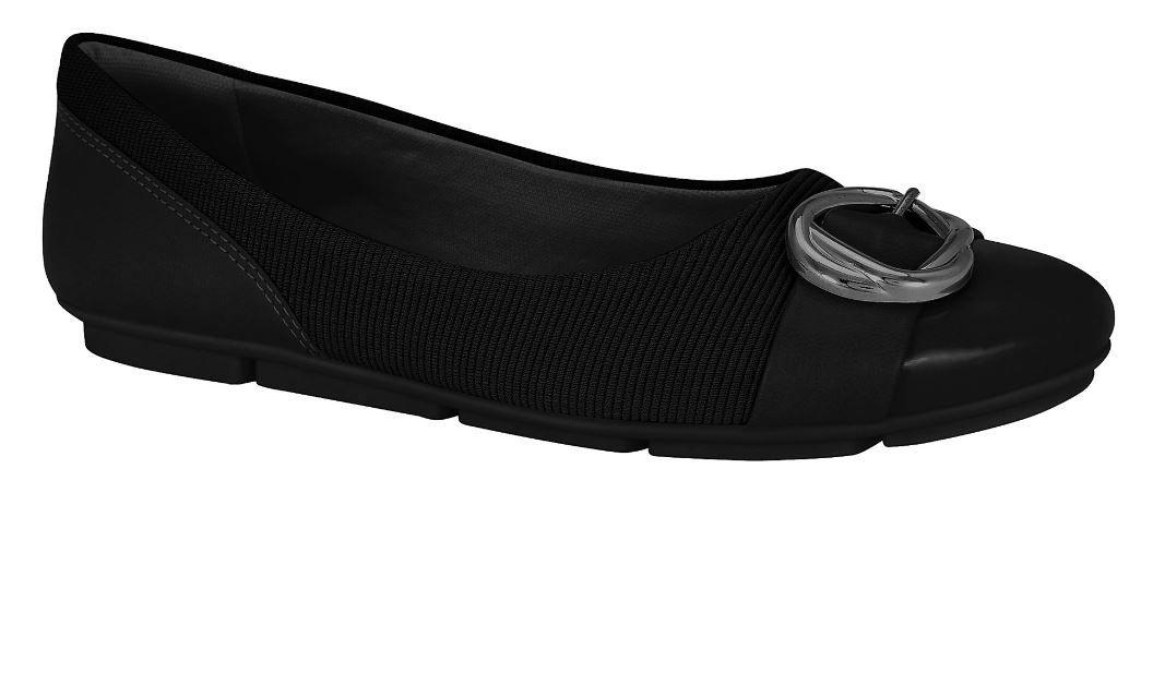 Sapato Sapatilha Comfortflex Casual 1963303 Feminino Preto